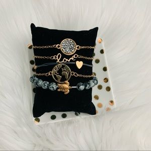 NIP 5 pack world travel bracelet set